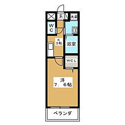東急多摩川線 矢口渡駅 徒歩8分の賃貸マンション 1階1Kの間取り