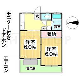 愛知県名古屋市南区観音町8丁目の賃貸アパートの間取り