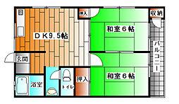 田屋前ハイツ[2階]の間取り