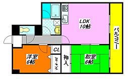 パークサイド・シャトー 507号室[5階]の間取り