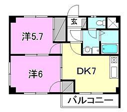 コートハウスIII[302 号室号室]の間取り