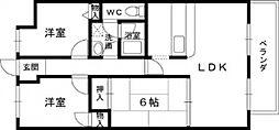 グランドハイツ[2階]の間取り