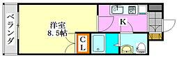 ジュメル京成船橋[401号室]の間取り