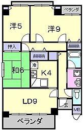 ビルレ堺東[3階]の間取り