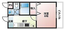 レ・コンフォルト[3階]の間取り