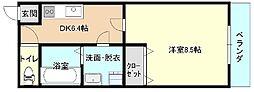 タケダビルII[703号室]の間取り