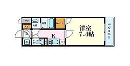 Osaka Metro中央線 阿波座駅 徒歩10分の賃貸マンション 2階1Kの間取り