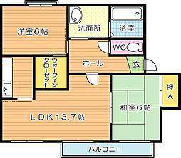 ディアスひびきの B棟[1階]の間取り