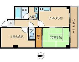 ナニワランド野江[8階]の間取り