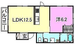 コーポくまA棟[201 号室号室]の間取り