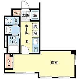 新潟県新潟市中央区旭町通の賃貸マンションの間取り