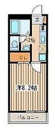 湘南(新)パラシオン[3階]の間取り