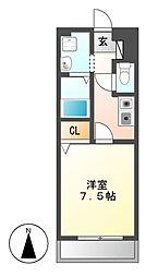 MERCI(メルシィ)[3階]の間取り