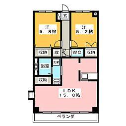 FUJIパレス[2階]の間取り