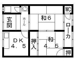 飯島文化[206号室号室]の間取り