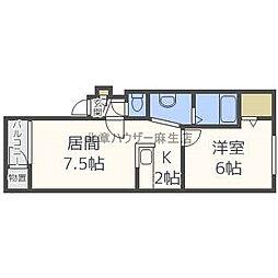 ドリーム34A[1階]の間取り