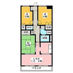 AMOURナメリ[1階]の間取り