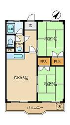 岡田ビル[301号室]の間取り
