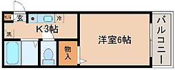 兵庫県神戸市長田区蓮宮通3丁目の賃貸アパートの間取り
