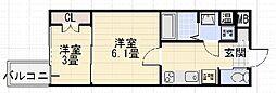 プロスパーハイツ深井[305号室]の間取り