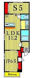 カーサ デ ラ リベラ 2階1SLDKの間取り