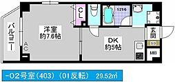 Jクレスト・ドーム前[8階]の間取り