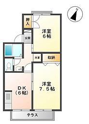 ライブタウンKUBO[2階]の間取り