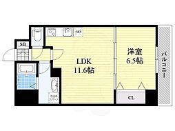 (仮称)リバレイン江坂 4階1LDKの間取り
