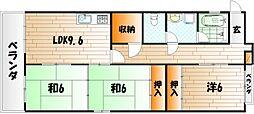 ホワイトハイツ神岳[2階]の間取り