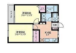 たつみ荘[1階]の間取り