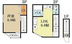 キャスティア一橋学園II 1階1LDKの間取り