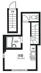 OYO LIFE #976 アビタシオン旗の台 2階ワンルームの間取り