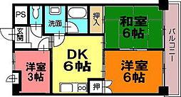 ロイヤルハイツ松島[501号室]の間取り