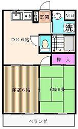 千葉県浦安市北栄3丁目の賃貸マンションの間取り