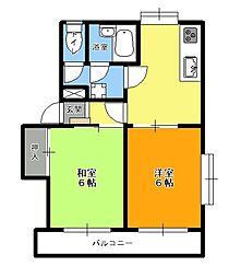 日野台みすずマンション[401号室]の間取り