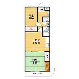 川島第8ビル[1階]の間取り