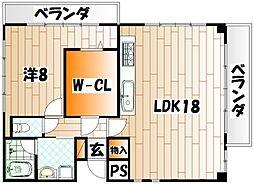 マキシム中津口[3階]の間取り