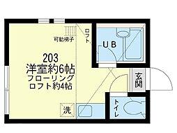 ユナイト 川崎マリア・テレサ[2階]の間取り