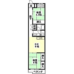 Gifu 長住ビル[301号室]の間取り
