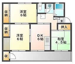鍋屋上野住宅6号棟[1階]の間取り