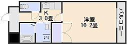 グランヴェルジェ中須I[3階]の間取り