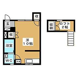 ハートフルハウス[2階]の間取り
