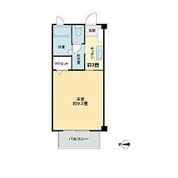 喜多川パークハイツ[2階]の間取り