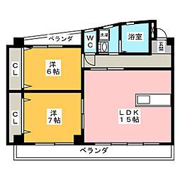 スビエート[3階]の間取り