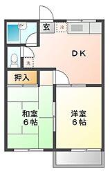 メゾンセレーザ[2階]の間取り