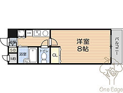 パークビュー北梅田[3階]の間取り