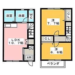 [テラスハウス] 愛知県名古屋市緑区緑花台 の賃貸【/】の間取り