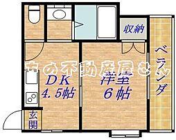 コスモプラザ[3階]の間取り