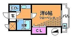 東京都調布市東つつじケ丘3丁目の賃貸マンションの間取り