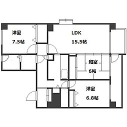 S−Court山鼻[5階]の間取り